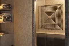 oriental bluestone 30x30 & travertin 2x2