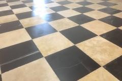 Thala beige VT patinée/marbre noir Aziza damier