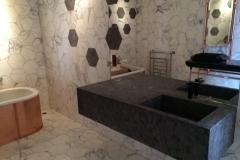 Hexagones marbre calacatta Noir Matrix 2